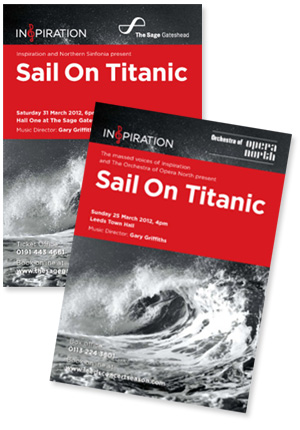 Sail On Titanic Concert Flyers