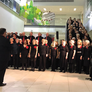Inspiration sing at Bexley Wing, St James