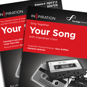 Inspiration 'Your Song' concert flyers